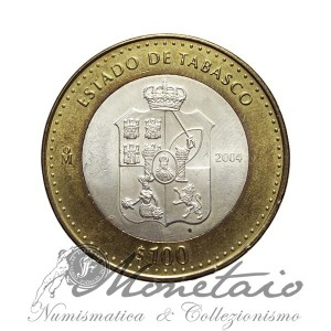 "100 Pesos 2004 ""Estado de Tabasco"""
