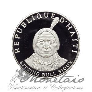 10 Gourdes 1971 IC Sioux Chief - Sitting Bull