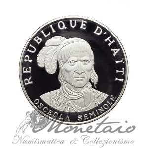 10 Gourdes 1971 IC Seminole Chief - Osceola Facing