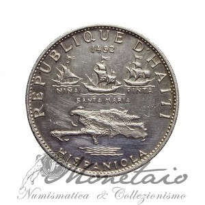 "5 Gourdes 1971 IC ""Columbus Discovers America"""