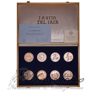 "Set of 16 Medal ""The life of the Pope"""