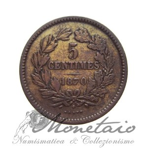 5 Centimes 1870 - William III Netherlands