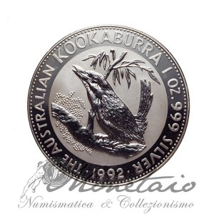 1 Dollaro 1992 Kookaburra Proof