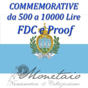 500-10.000 Lire Commemorative 1975-2001