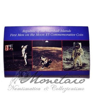 "5 Dollars 1989 ""First Man on the Moon"""