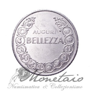 "Gettone Calendario Domeniche ""Auguri Bellezza"""